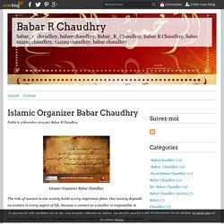 Islamic Organizer Babar Chaudhry - Babar R Chaudhry