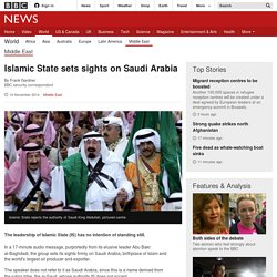 Islamic State sets sights on Saudi Arabia