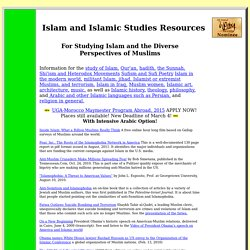 Islam and Islamic Studies Resources