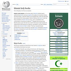 Islamic holy books