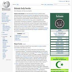 Islamic holy books