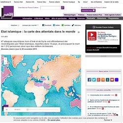 Etat islamique : la carte des attentats dans le monde: un article et des cartes animées