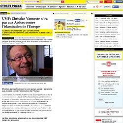 UMP: Christian Vanneste n'ira pas aux Assises contre l'islamisation de l'Europe