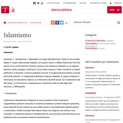 "Islamismo in ""Enciclopedia delle scienze sociali"""