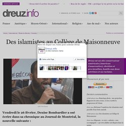 Des islamistes au Collège de Maisonneuve