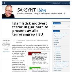 Islamistisk motivert terror utgjør bare to prosent av alle terrorangrep i EU