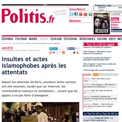 Insultes et actes islamophobes après les attentats
