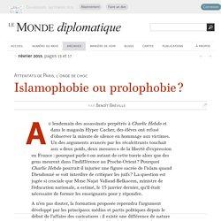 Islamophobie ou prolophobie ?, par Benoît Bréville (Le Monde diplomatique, février 2015)