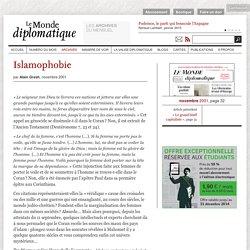 Islamophobie, par Alain Gresh (Le Monde diplomatique, novembre 2001)