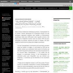 """""""Islamophobie"""": une invention française"""
