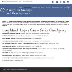 Nannys For Grannys Offers Home Health Aid In Long Island