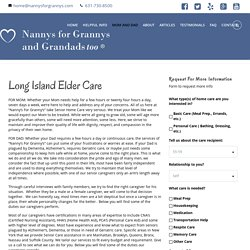 Long Island Elder Care Agencies- Nannys For Grannys