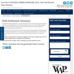 Long Island Debt Settlement Attorneys
