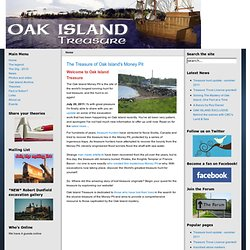 Oak Island Treasure - the world's greatest treasure hunt - Home