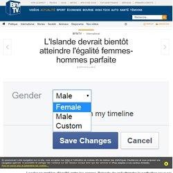 L'Islande devrait bientôt atteindre l'égalité femmes-hommes parfaite