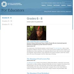 Grades 6 - 8 - Pacific Islanders in Communications