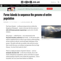 Faroe Islands to sequence the genome of entire population