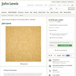 Buy John Lewis Islington Furnishing Fabric, Natural