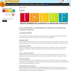 ISLRF : Institut Supérieur des Langues de la République Française