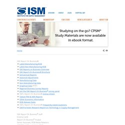 ISM - ISM Reports on Business