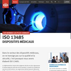 ISO - ISO 13485 — Dispositifs médicaux