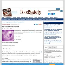 FOOD SAFETY MAGAZINE - OCT 2019 - ISO 22000 Revised
