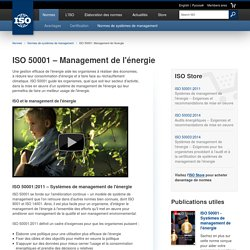 ISO 50001 - Management de l'énergie