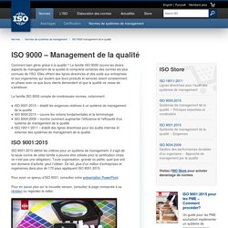 9000 management de la qualité