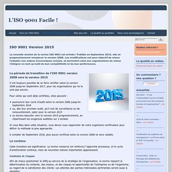 ISO 9001 Version 2015 - ISO 9001 facile
