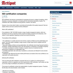 ISO certification companies