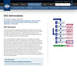 ISO deliverables