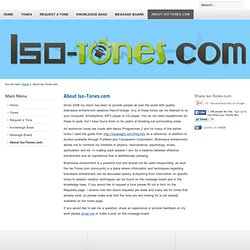 Iso-Tones - About Iso-Tones.com