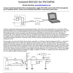 Isolated RS232C for PIC18F84