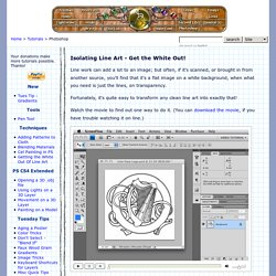 Isolating Line Art in Adobe Photoshop - Tutorial © Robin Wood 2009
