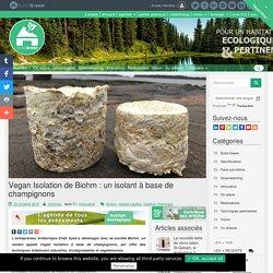 Vegan Isolation de Biohm : un isolant à base de champignons