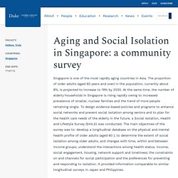 Aging and Social Isolation in Singapore: a community survey
