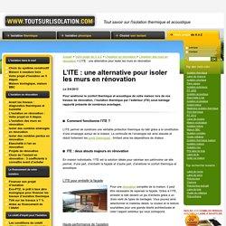 ITE, isolation thermique par l'exterieur