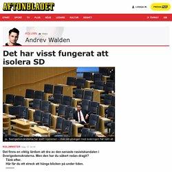 Isoleringen av SD i Riksdagen har inte misslyckats