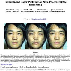Isoluminant Color Picking for Non-Photorealistic Rendering