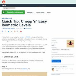 Quick Tip: Cheap 'n' Easy Isometric Levels