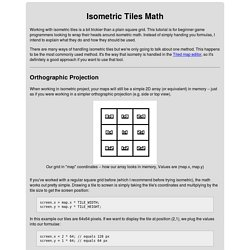 Isometric Tiles Math