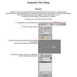 Isometric View setup: max 4.x/5.x