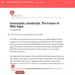 Isomorphic JavaScript: The Future of Web Apps