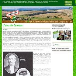 Ispagnac : tourisme et détente en Lozère - parc national des Cévennes, Causses - L'eau de Quezac