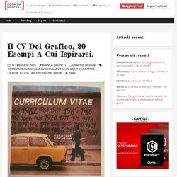 Il CV del Grafico, 20 esempi a cui ispirarsi. – Robadagrafici.net