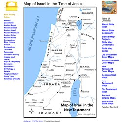 Map of Israel in the Time of Jesus Christ with Roads