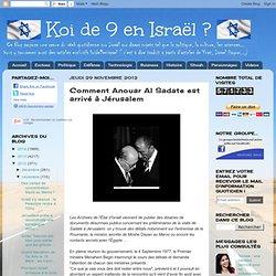 Comment Anouar Al Sadate est arrivé à Jérusalem