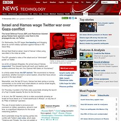 Israel and Hamas wage Twitter war over Gaza conflict