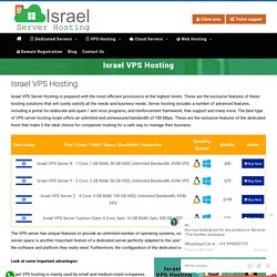 Israel VPS hosting is best for small and medium-sized companies