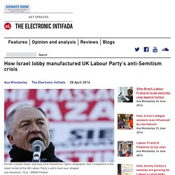 How Israel lobby manufactured UK Labour Party's anti-Semitism crisis